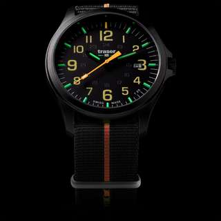 traser P67 Officer Pro GunMetal Black/Orange - Textilband